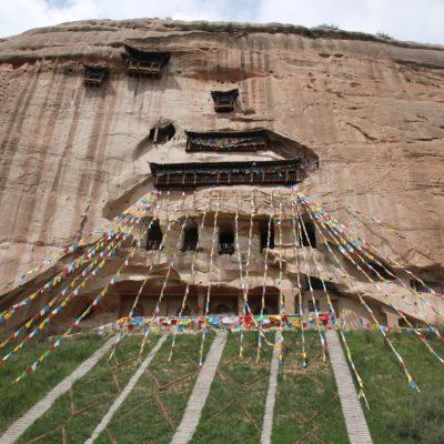 El templo Mati Si, construido completamente en el interior de la roca