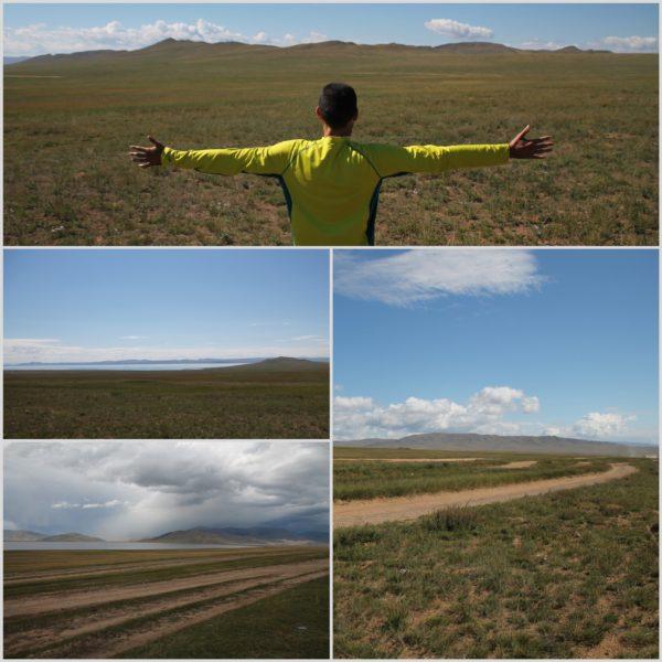Camino a Ulaan Bator cruzamos grandes campos y algunos lagos, como el Terkhiin Tsagaan Nuur y el Hyargas Nuur
