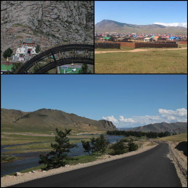 Nuestra ruta cruzando Mongolia nos llevó por los pueblos de Tosontsengel y Tsetserleg, donde vimos su templo; y también Karakorum, aunque fue una pena que pasaramos de noche