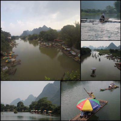 El ajetreado tráfico de turistas en el río