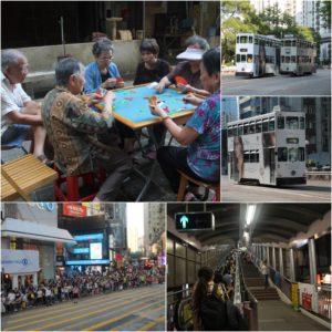 El día a día en la isla de Hong Kong: tranvias y escaleras mecánicas; vida de barrio y compras