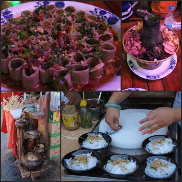Comida típica de Pingyao: noodles rellenos, hotpot, vinagre de soja y noodles fríos