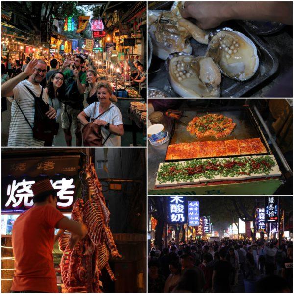 Mercado musulmán en Xian