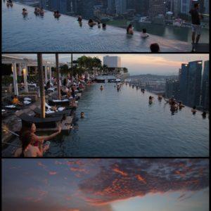 La terraza y piscina del Marina Bay Sands