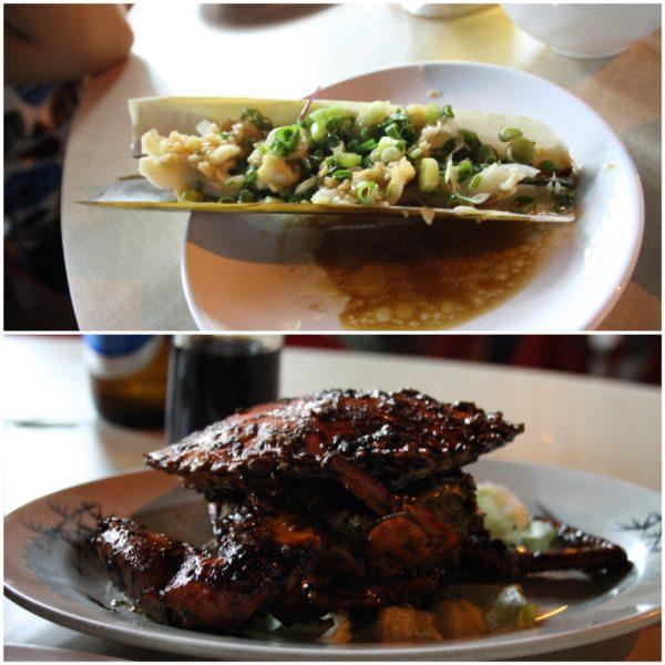 Comida típica singapurense con toque chino