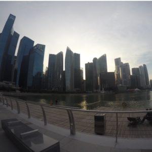 El skyline de Singapur desde el Marina Bay