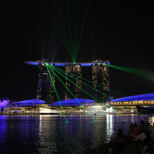 El show de luces del Marina Bay Sands