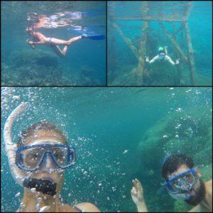 Habíamos echado mucho de menos el mar y haciendo snorkel nos volvimos a sentir literalmente, como pez en el agua