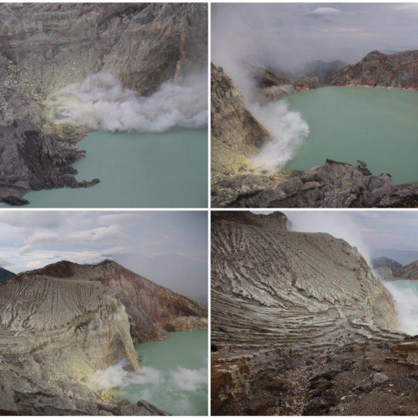 La geología del volcán Ijen es muy curiosa y el paisaje resulta espectacular