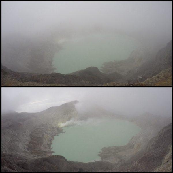 Dimos gracias a que la niebla se despejara y así pudiéramos ver el lago que escondía