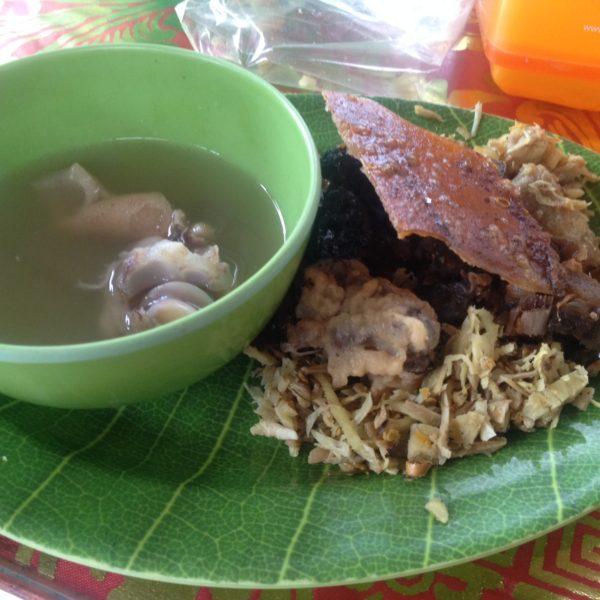 El babi guling es un plato típico de Bali donde se comen diferentes partes del cerdo