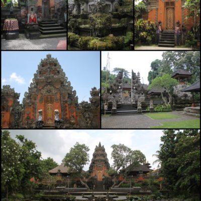 Algunos de los templos de Ubud