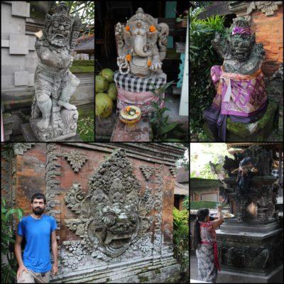 Las ofrendas y las estatuas decoradas de Bali