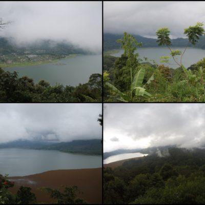 Los lagos Danau Buyan y Danau Tamblingan