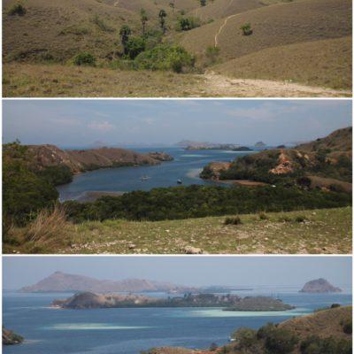 Las bonitas vistas desde la isla Rinca donde vimos a los dragones