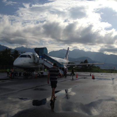 El avión que nos llevó a Bali resultó ser mayor de lo que nosotros creíamos que sería