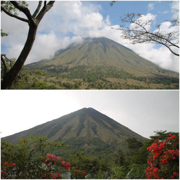 El majestuoso volcán Inerie