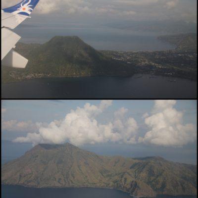 Mientras cogíamos altura pudimos ver los volcanes Wolo Keikakodo y el monte Iya